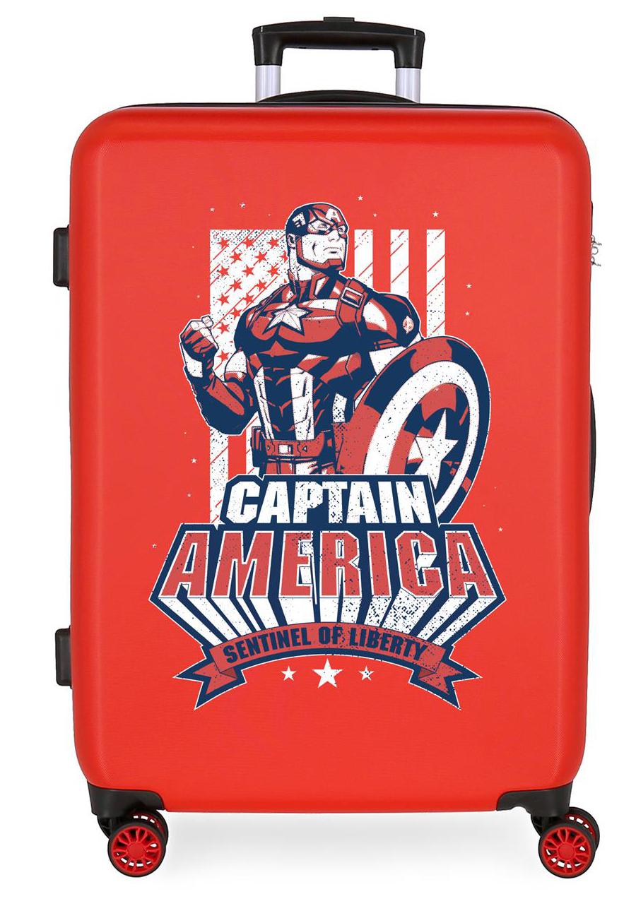 3431824 Maleta Mediana Mightiest Heroes Captain America Rojo