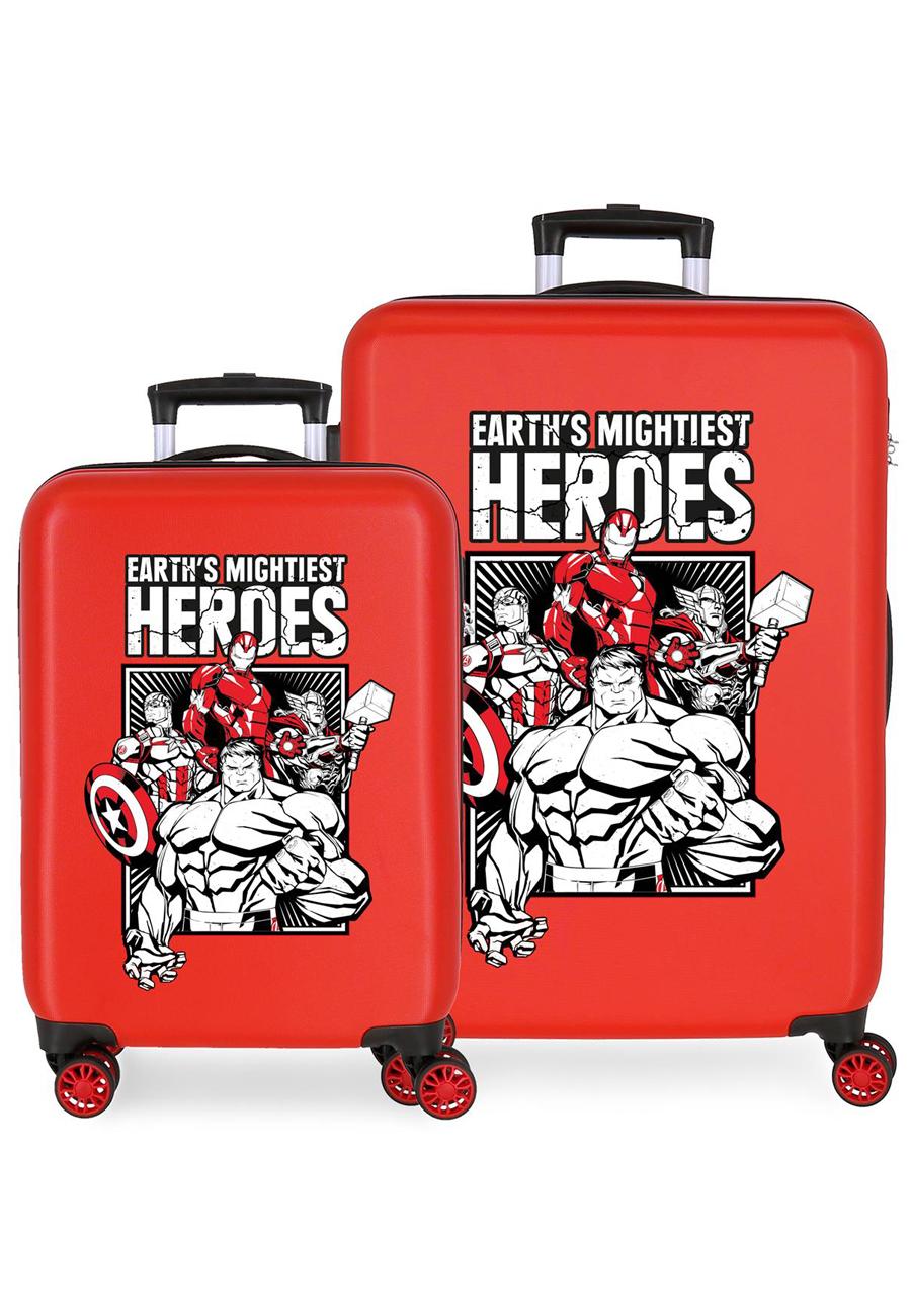 3431922 Juego Maletas Cabina y Mediana Earth´s Mightiest Heroes Rojo