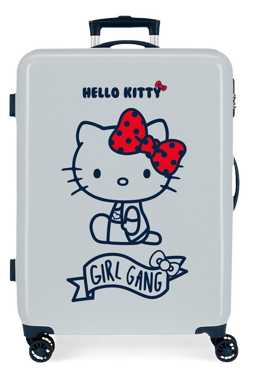 4231823 Maleta Mediana Girl Gang Hello Kitty Azul Claro