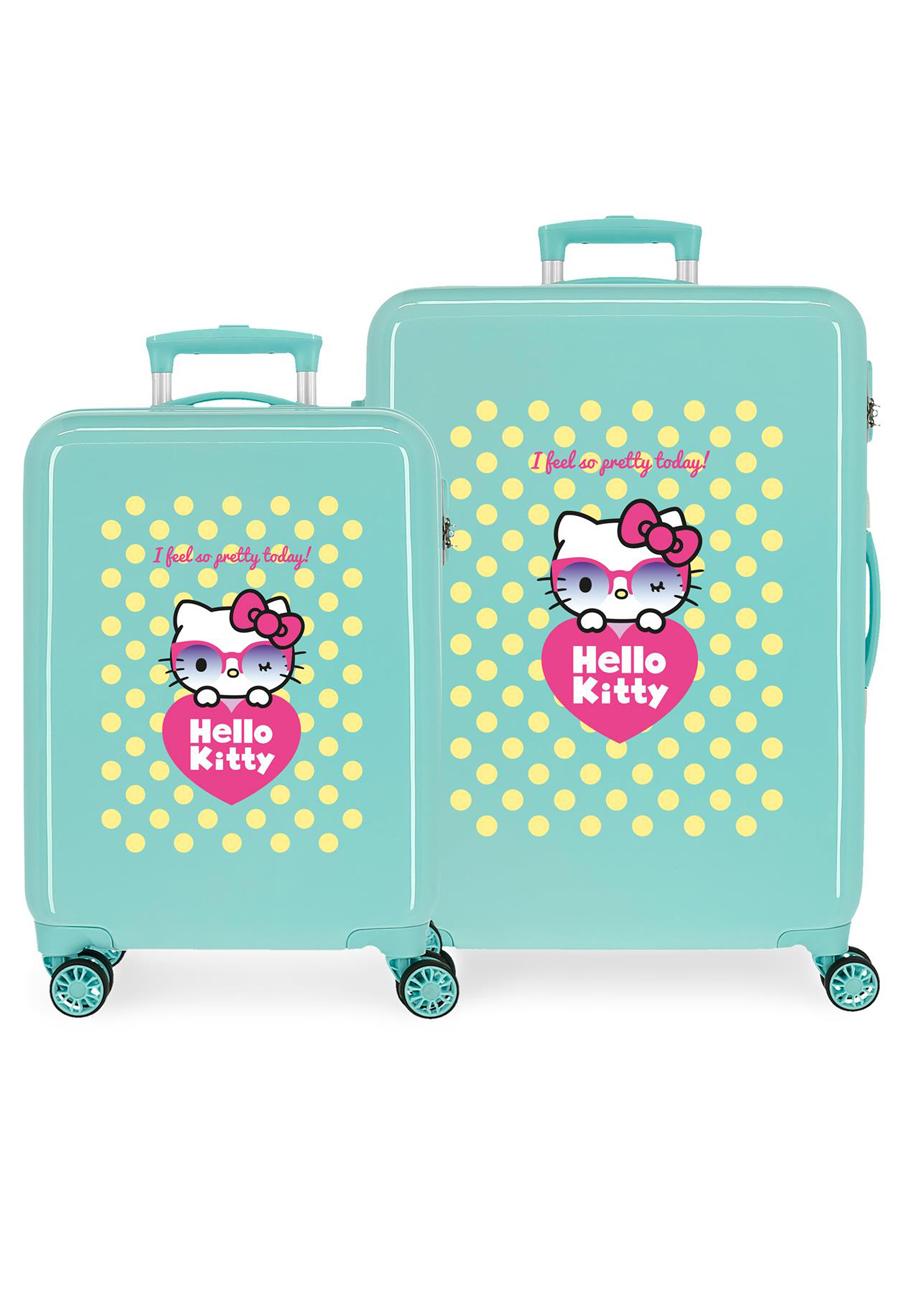 4261921 Juego Maletas Cabina y Mediana Hello Kitty Pretty Glasses
