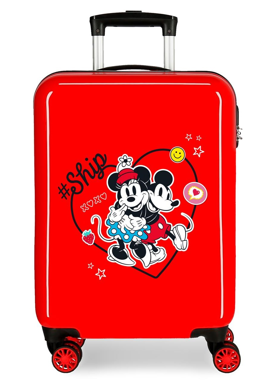 4491722 Maleta Cabina Mickey & Minnie ship Always Be Kind Rojo