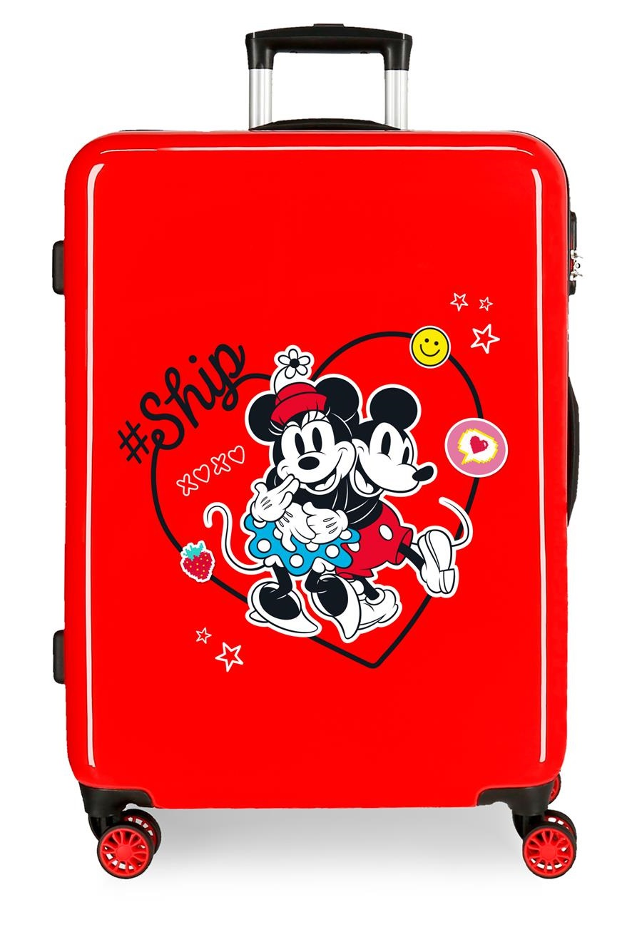 4491822 Maleta Mediana Mickey & Minnie ship Always Be Kind Rojo