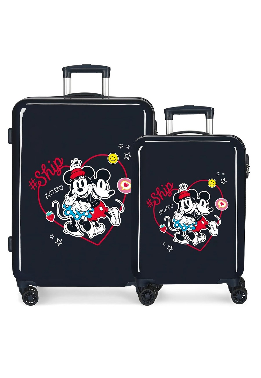 4491921 Juego Maletas Cabina y Mediana Mickey & Minnie ship Always Be Kind Marino