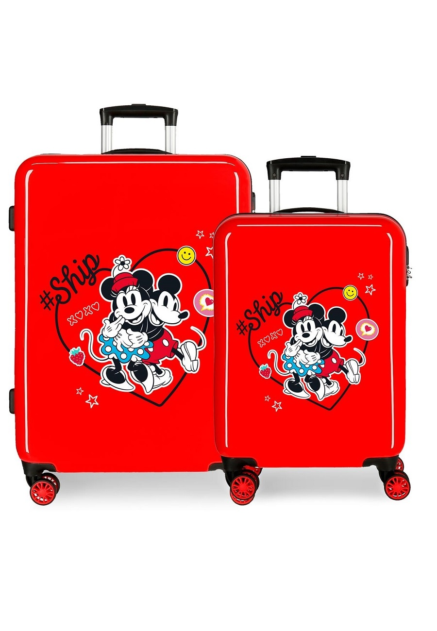 4491922 Juego Maletas Cabina y Mediana Mickey & Minnie ship Always Be Kind Rojo