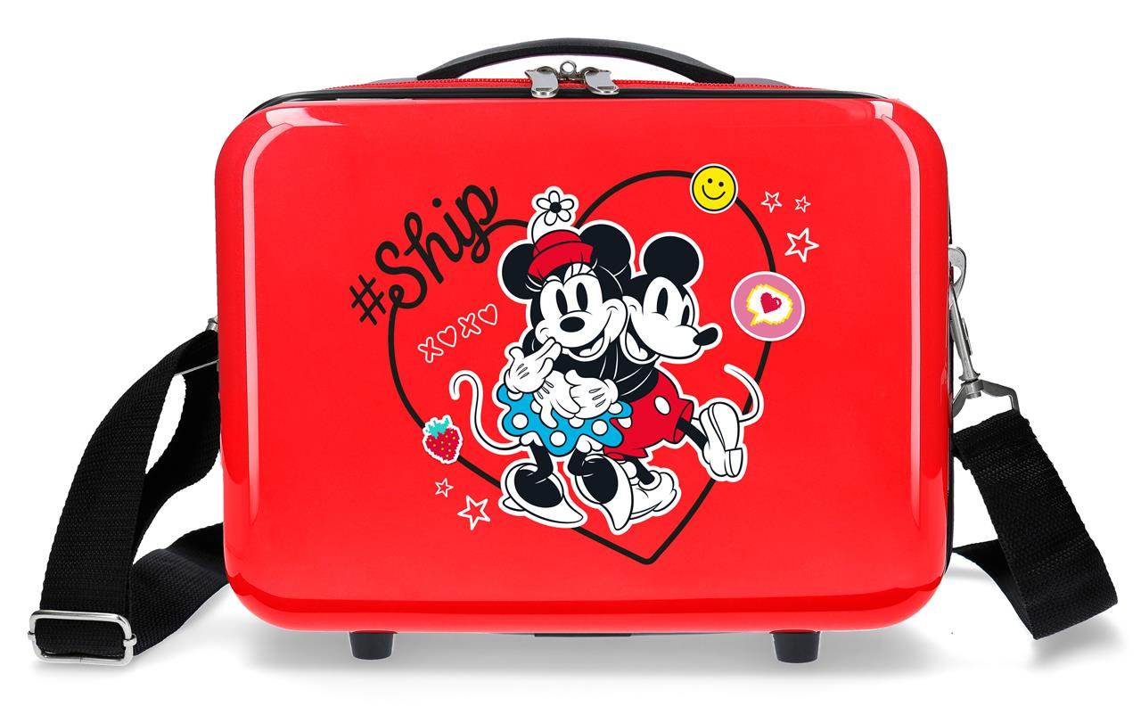 4493922 Neceser Mickey & Minnie ship Always Be Kind Rojo