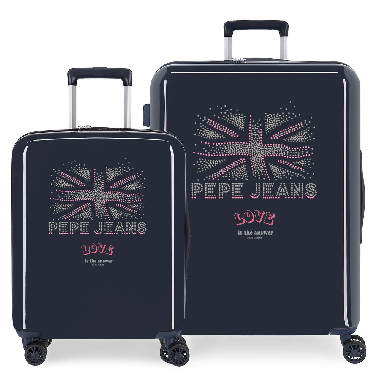 6259721 Juego Maletas Cabina y Mediana Pepe Jeans Ada