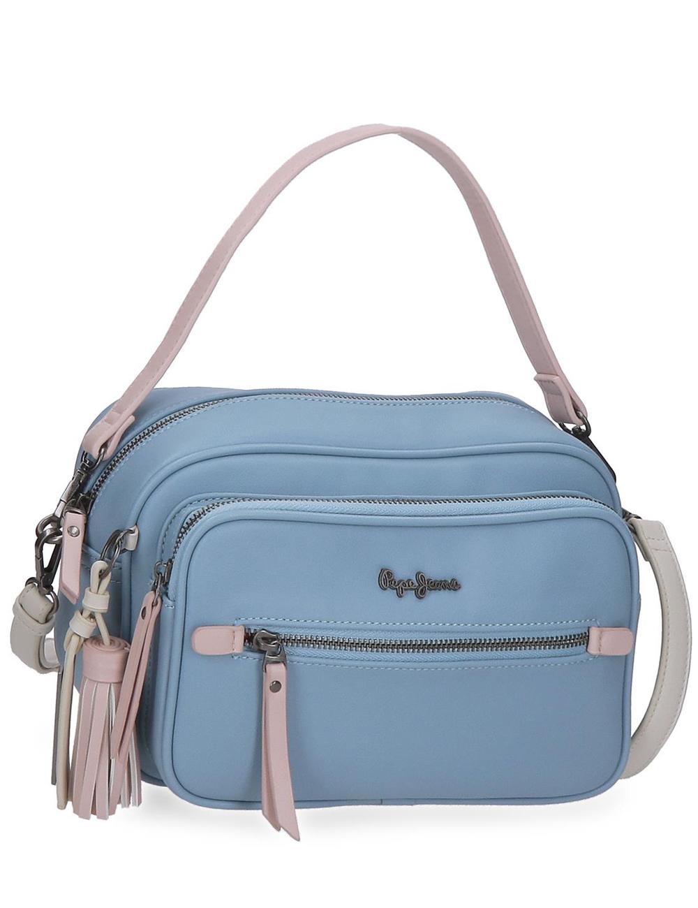 7585222 Bandolera Doble Compartimento Pepe Jeans Zaida Azul