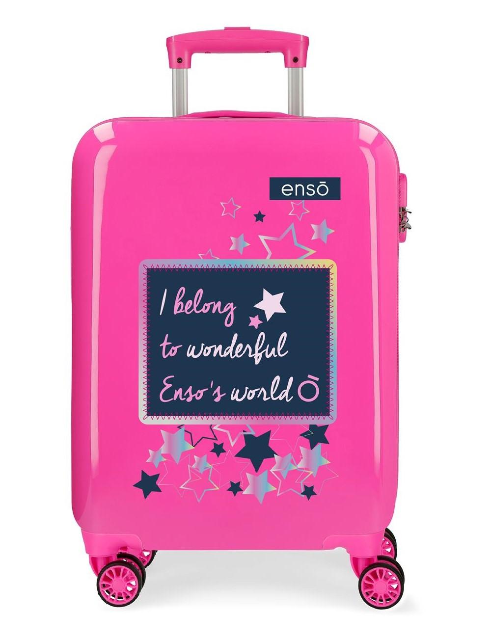 Maleta Cabina Enso Make a Wish Fucsia 9191722