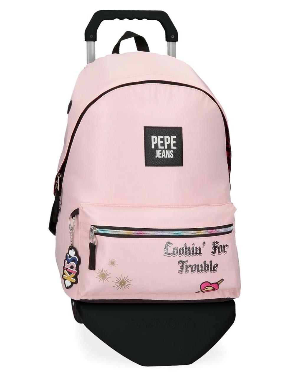 62423T2 Mochila con Carro Pepe Jeans Forever Rosa