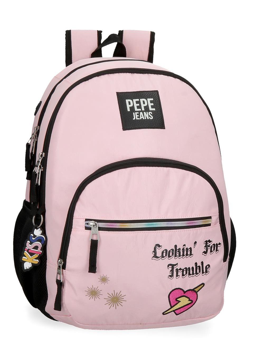 6242422 Mochila 44 cm Doble C. Pepe Jeans Forever Rosa