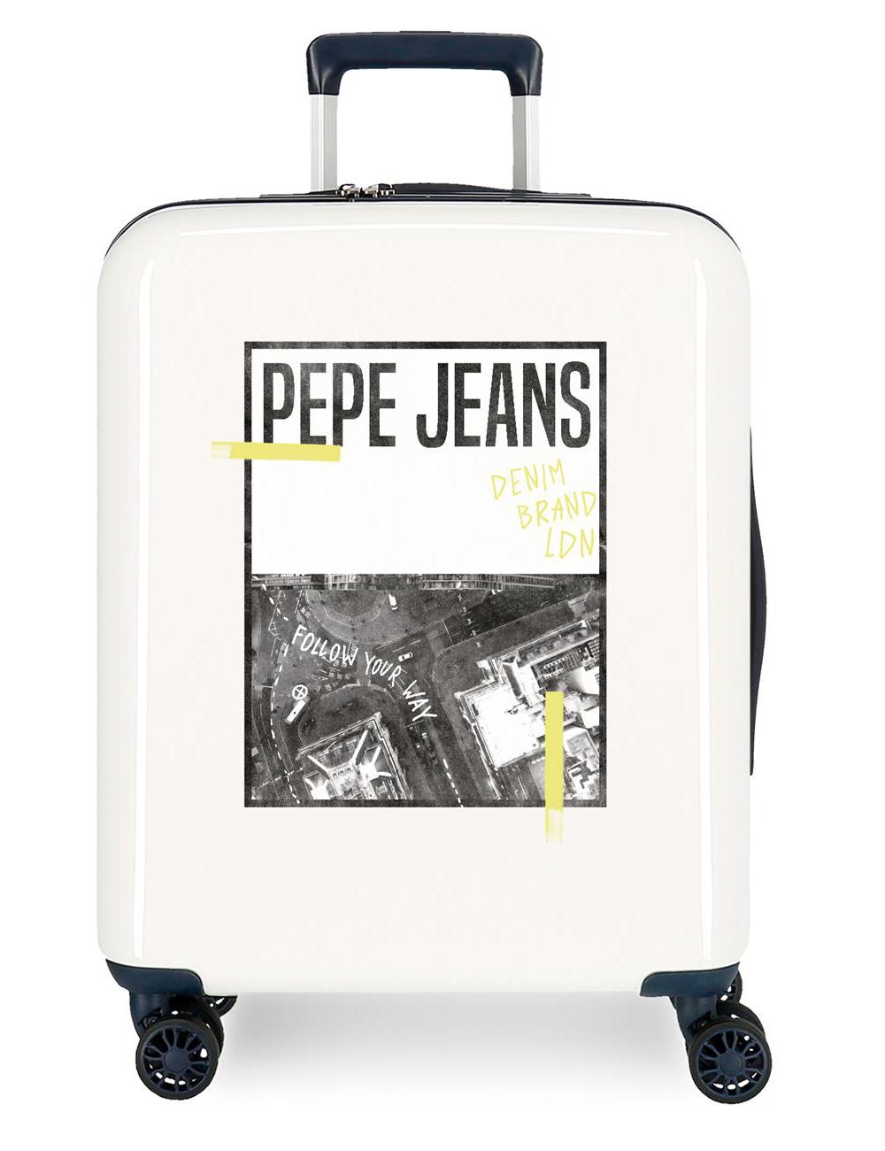 7929327 Maleta Cabina Pepe Jeans Nolan Crispin Beige