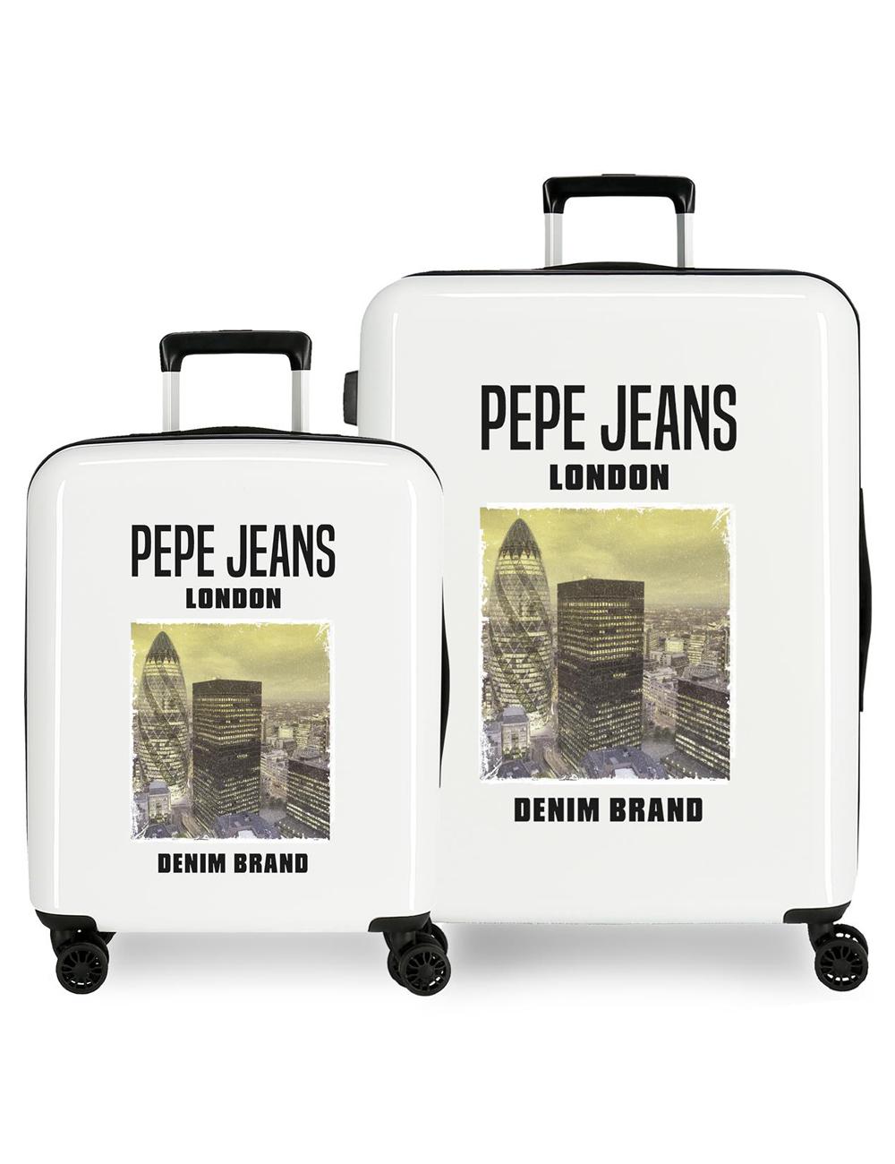 792972A Juego Maletas Cabina y Mediana Pepe Jeans Nolan Conrad Beige