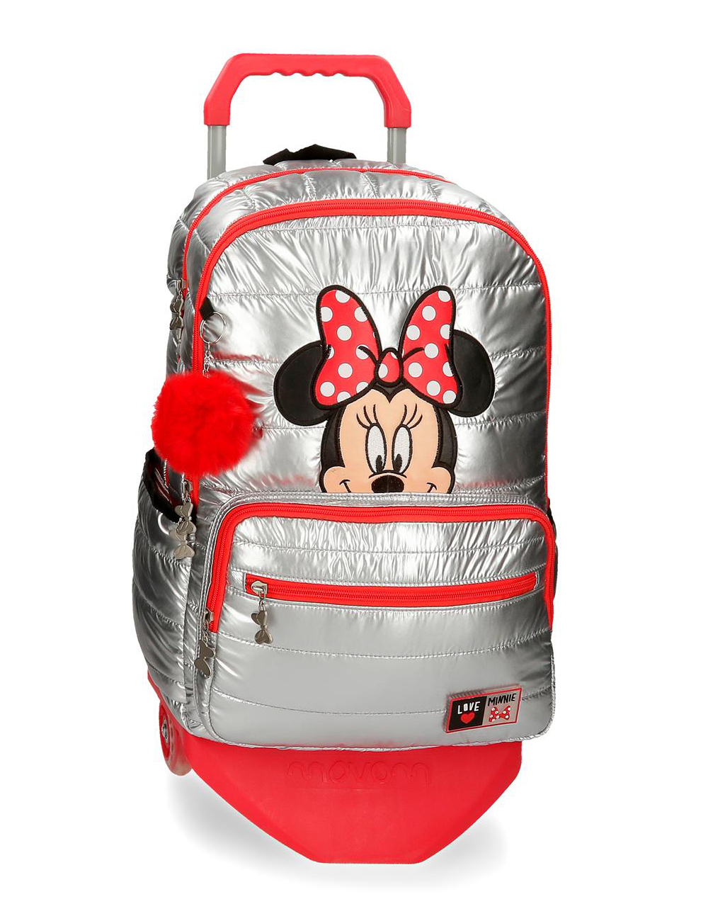 21624t1 Mochila 44cm Doble con Ruedas Minnie My Pretty Bow