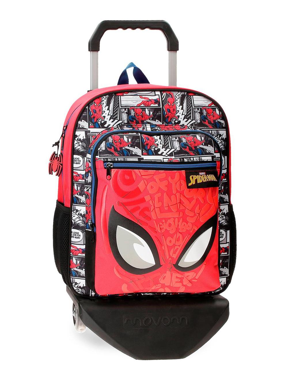 22523T1 Mochila 38cm con Ruedas Spiderman Comic