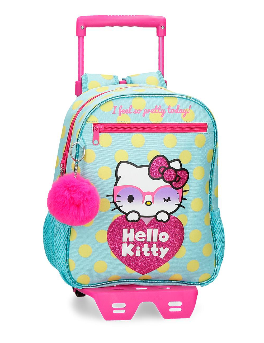 42621t1 Mochila 28cm con Ruedas Hello Kitty Pretty Glasses