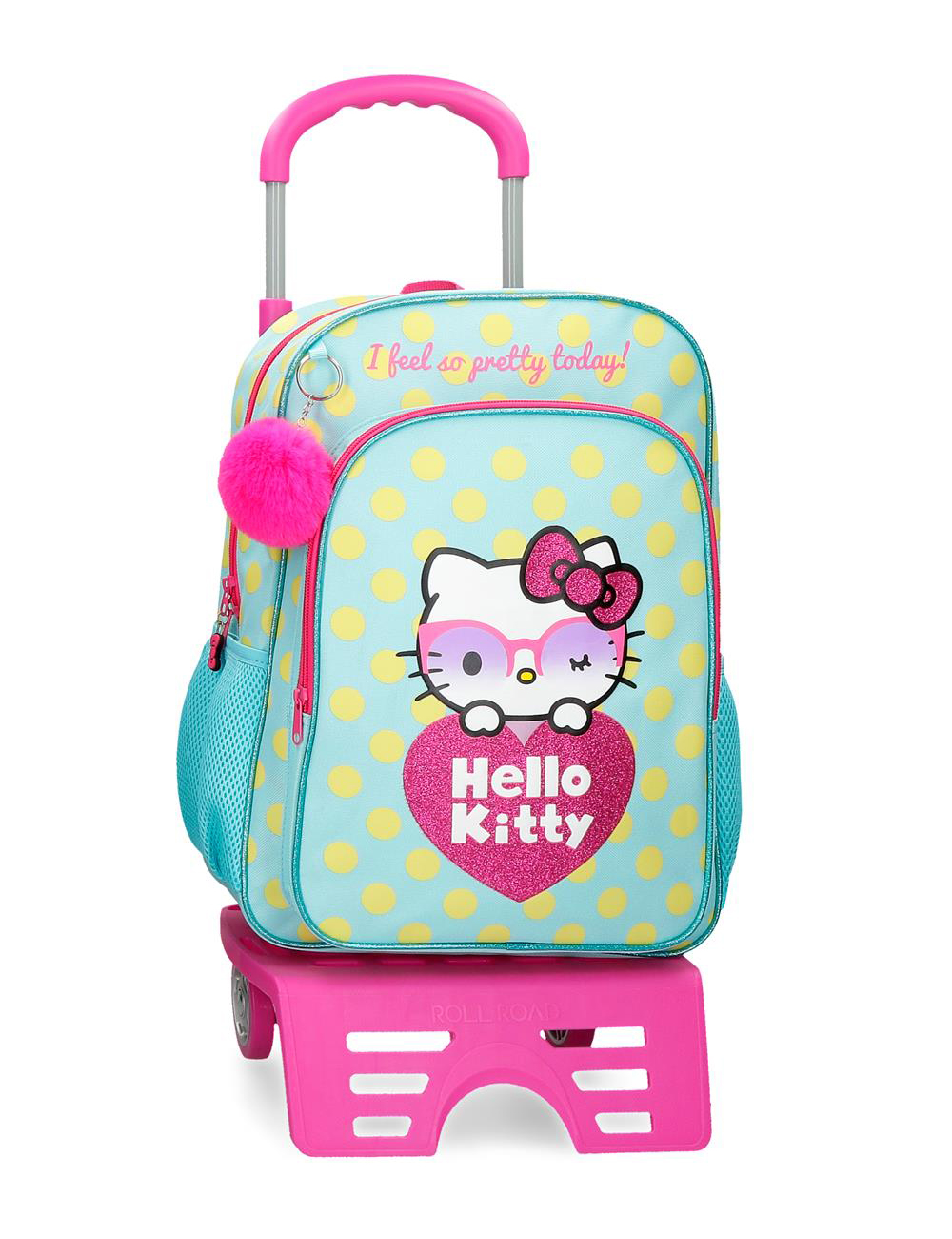 42623t1 Mochila 40cm con Ruedas Hello Kitty Pretty Glasses