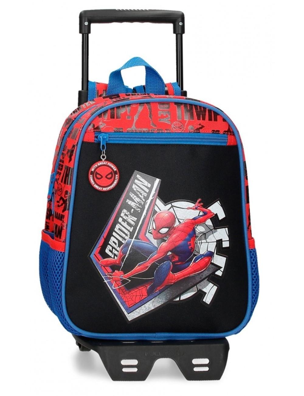 Mochila 28cm Spiderman Grat Power con Ruedas 44521T1