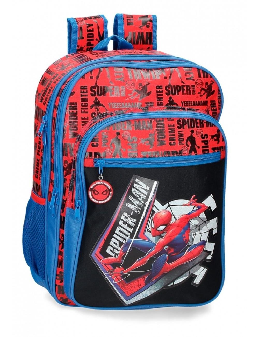 Mochila 42cm Spiderman Greaat Power 4452421