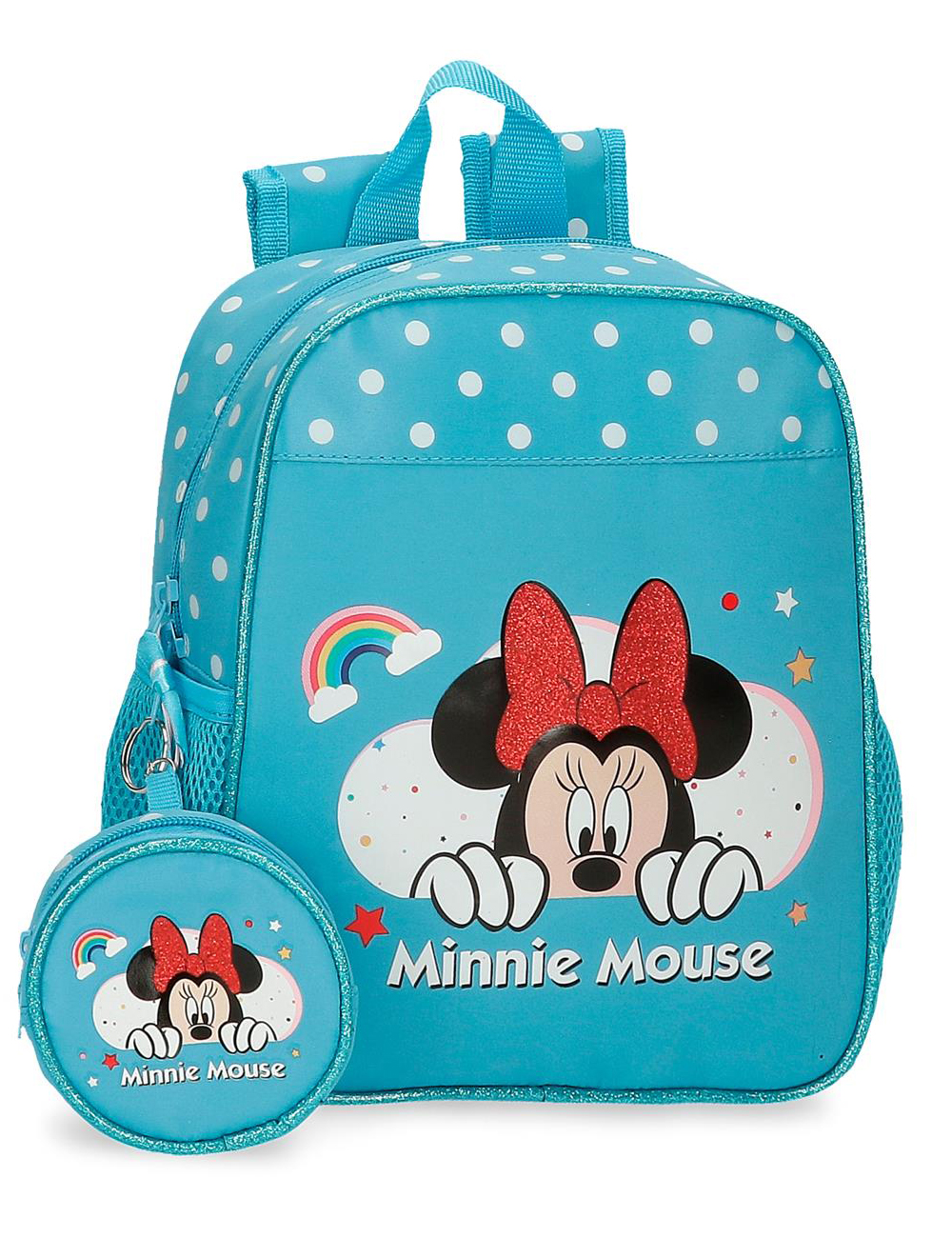 4772063 Mochila 25cm Minnie Rainbow Azul