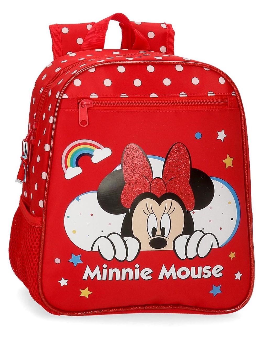 4772161 Mochila pequeña 28cm Minnie Rainbow