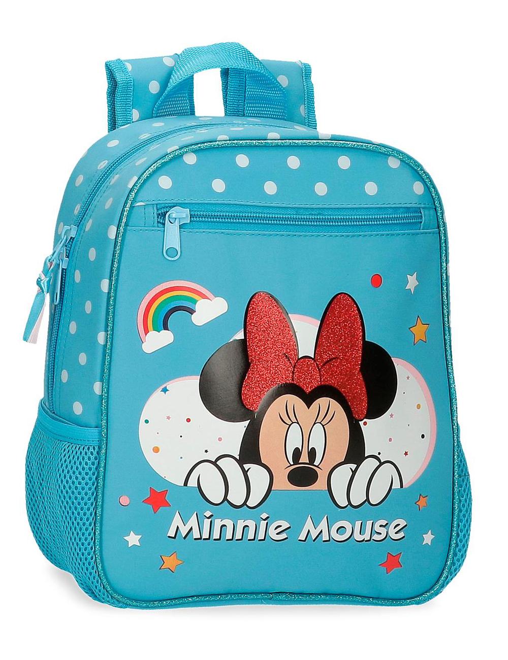 4772163 Mochila 28cm Minnie Rainbow Azul