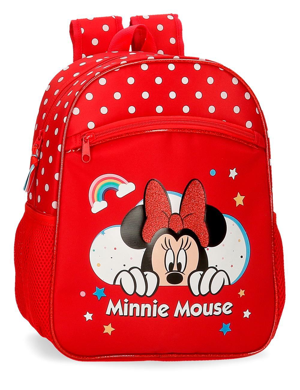 4772261 Mochila 33cm Minnie Rainbow Rojo