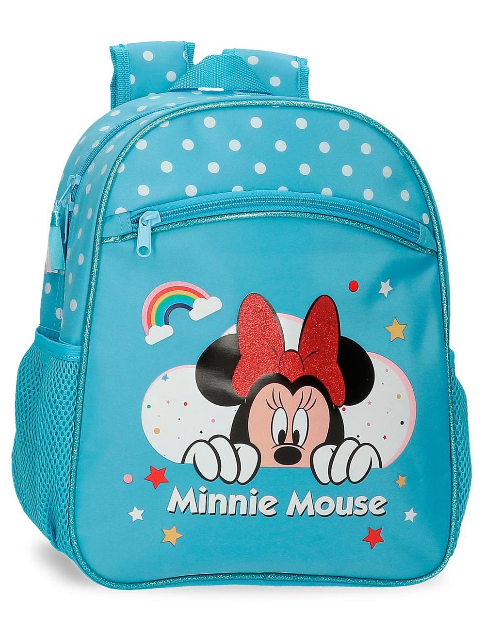 4772263 Mochila 33cm Minnie Rainbow Azul