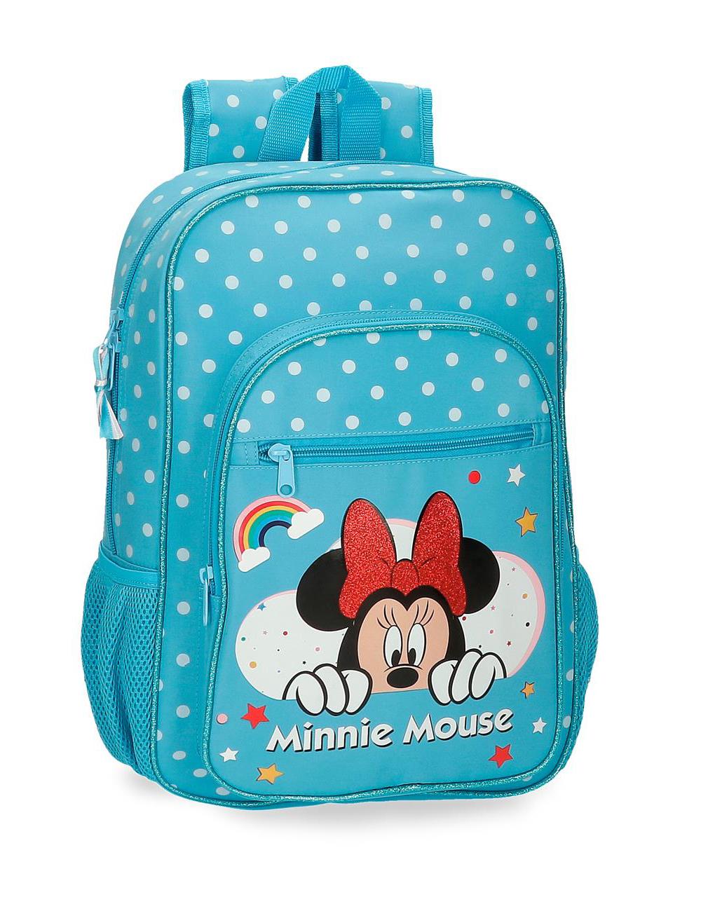 47723b3 Mochila 40cm Minnie Rainbow Azul