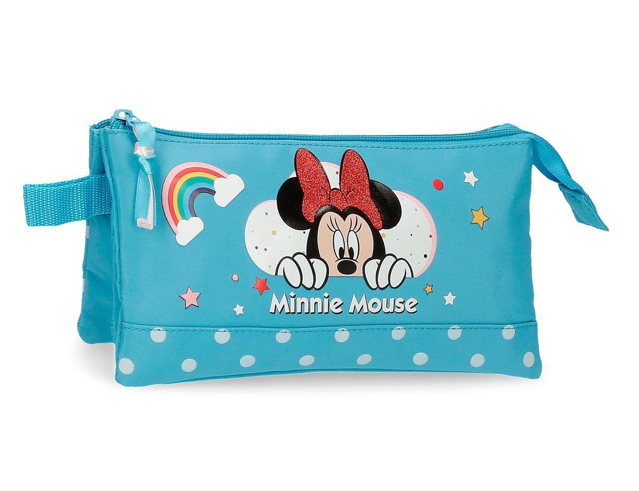 4774363 Portatodo 3 Compartimentos Minnie Rainbow Azul